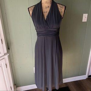 Evan-Picone Elegant Grey Dress